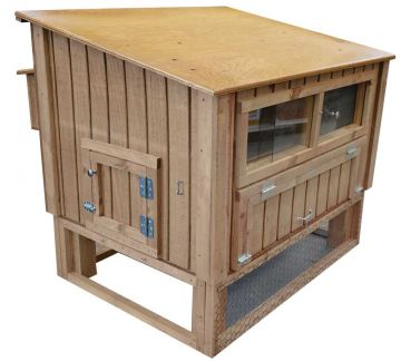 Unassembled Flock Fortress Wooden Chicken Coop (4-6 Chickens)
