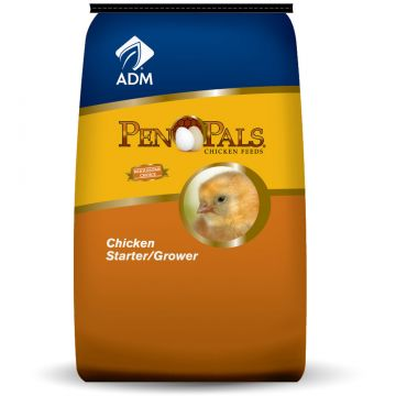 Pen Pals® ADM Chicken Starter/Grower - Medicated - 50 lb bag