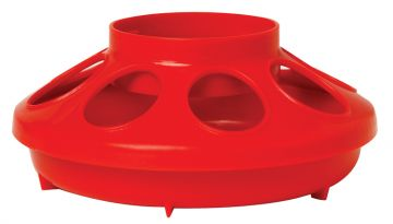 1 Quart Plastic Feeder Base Only - Red