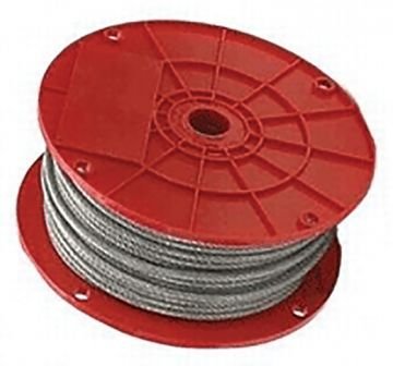 "Galvanized Aircraft Cable 1/8"" - 250 ft"