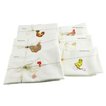Dish Towel - Flour Sack Style Various Chickens