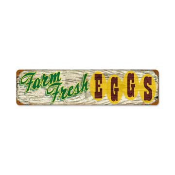 Farm Fresh Eggs Steel Indoor/Outdoor Sign