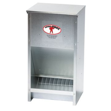 Galvanized Grill Poultry Feeder