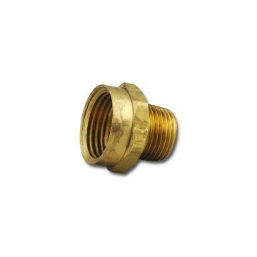 "Brass Fitting 1/2"" to Garden Hose"