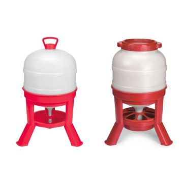 Large Capacity Dome Feeder and Waterer- Combination 45 Pound Feeder and 8 Gallon Fount