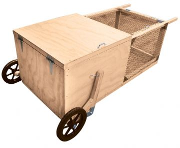 Portable Wooden Chicken Tractor on Wheels
