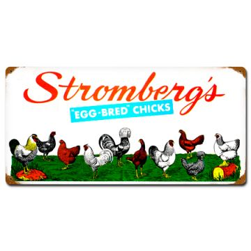 Assorted Chickens Tin Sign Stromberg Exclusive