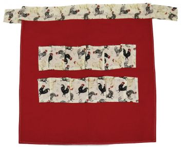 Egg Collecting Apron - Red
