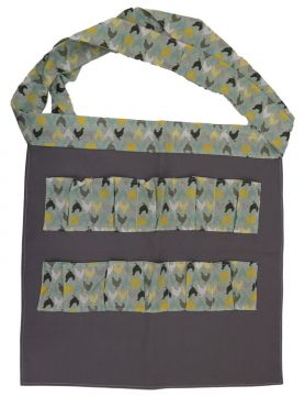 Egg Collecting Apron - Gray