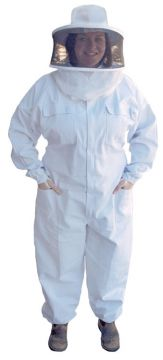 Economy Suit with Nylon Veil & Hat - X Large