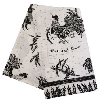 Boho Rooster Tea Towel