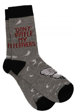 Don't Ruffle My Feathers Socks