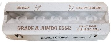 Printed Jumbo Egg Cartons